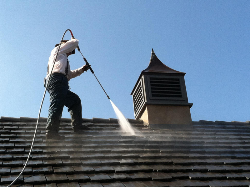 Power Washing Tile Roof Services in Huntington Beach