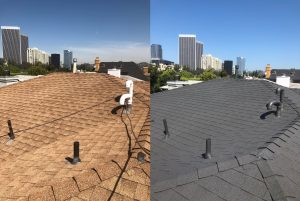 Composite Roof Cleaning, Huntington Beach CA
